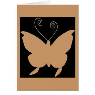 Borboleta da diva cartão comemorativo