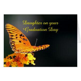 Borboleta da graduação da filha cartão comemorativo