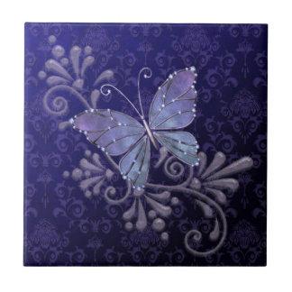 Borboleta da jóia azulejo de cerâmica