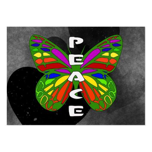Borboleta da paz modelo cartoes de visitas