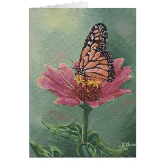 Borboleta de monarca 0465 no cartão de aniversário