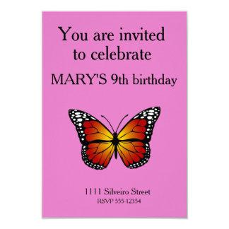 Borboleta de monarca convite 8.89 x 12.7cm