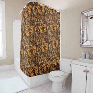 Borboleta de monarca cortina para box