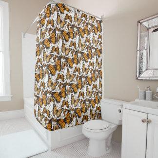 Borboleta de monarca cortina para chuveiro