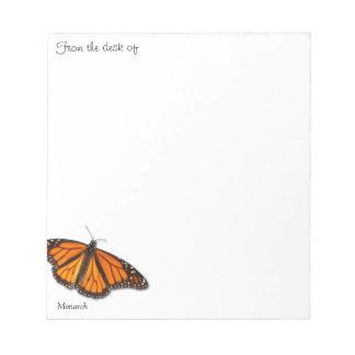 """Borboleta de monarca """"da mesa de…"""" blocos de notas bloco de anotação"""