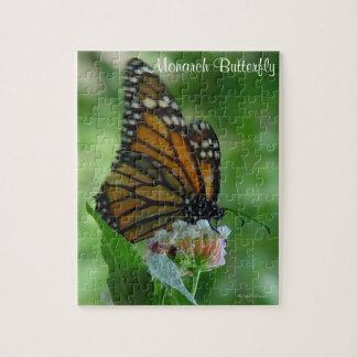 Borboleta de monarca de vibração do quebra-cabeça