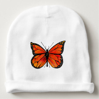 Borboleta de monarca no chapéu do Beanie do bebê Gorro Para Bebê