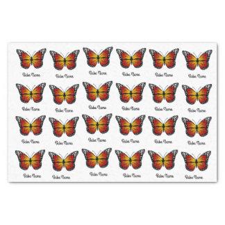 Borboleta de monarca papel de seda