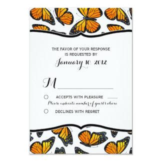 Borboleta de monarca que Wedding RSVP Convite 8.89 X 12.7cm