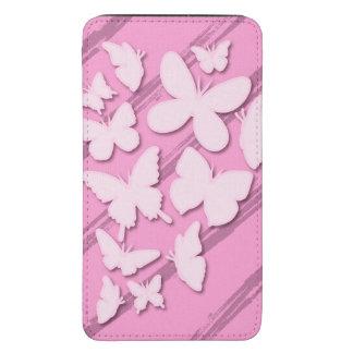 Borboleta de papel cor-de-rosa feminino bolsa para celular