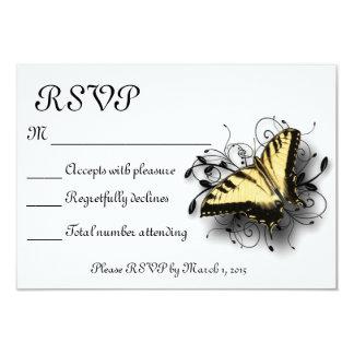 Borboleta de Swallowtail do tigre Convite 8.89 X 12.7cm