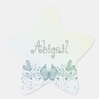 Borboleta delicada do verde azul do Aqua Adesito Estrela