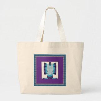 Borboleta do anjo da lua azul feita do tecido de sacola tote jumbo
