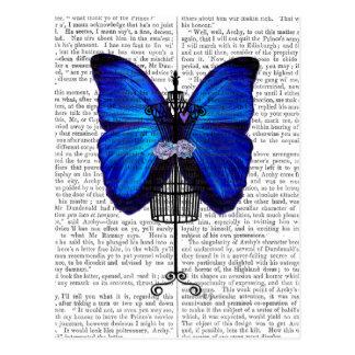 Borboleta do azul do manequim cartão postal