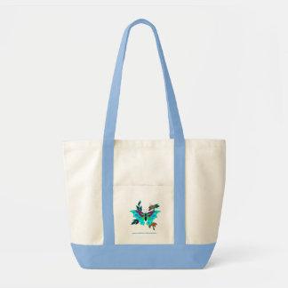 Borboleta do azul do saco bolsas para compras