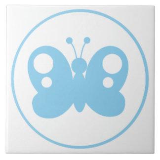 Borboleta dos azuis bebés azulejos