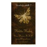 Borboleta dourada (modelo 2) - cura holística modelo cartão de visita