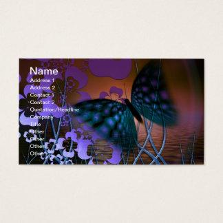 Borboleta e flores cartão de visitas