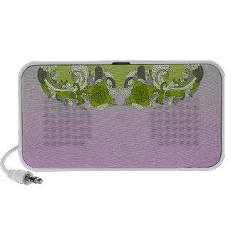 Borboleta esverdeado elegante caixinha de som para mp3