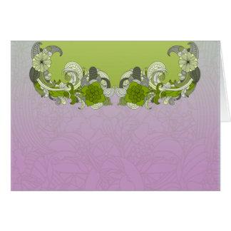 Borboleta esverdeado elegante cartão