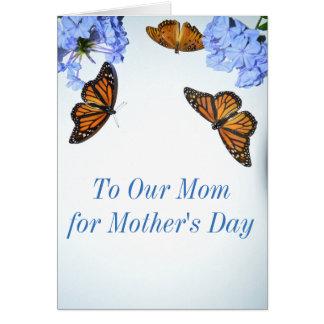 Borboleta feliz do dia das mães cartão comemorativo