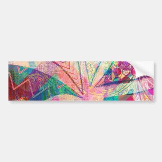 Borboleta feminino abstrata Funky colorida Adesivo Para Carro