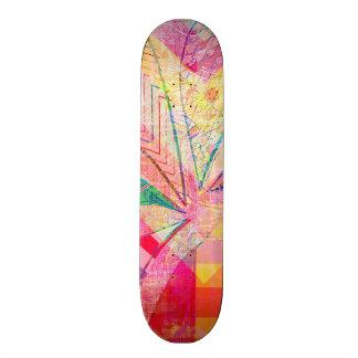 Borboleta feminino abstrata Funky colorida Shape De Skate 21,6cm
