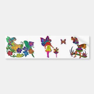Borboleta floral das meninas da borboleta adesivo para carro
