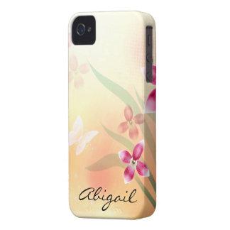 Borboleta & flores capinha iPhone 4