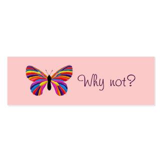 Borboleta impossível - por que não? cartão de visita skinny