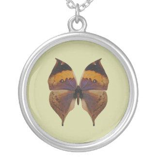 Borboleta indiana da folha colar com pendente redondo