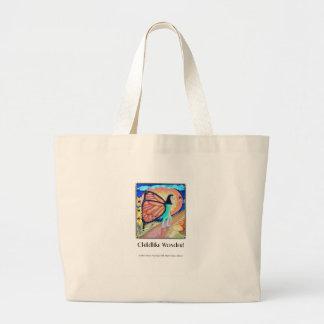 Borboleta infantil da maravilha bolsa para compras