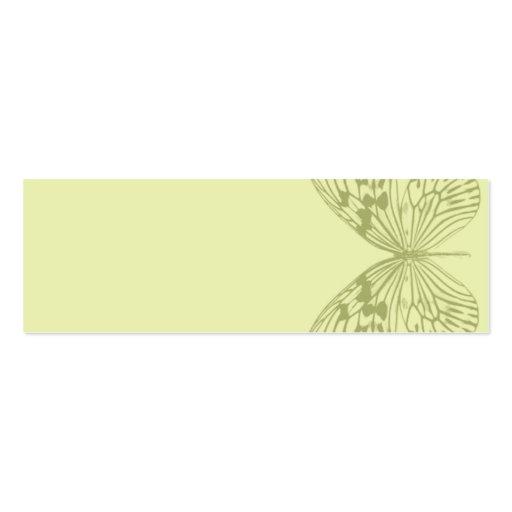 Borboleta & listra verdes cartao de visita