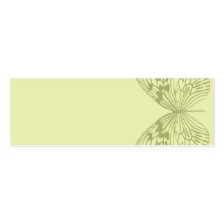 Borboleta & listra verdes cartão de visita skinny