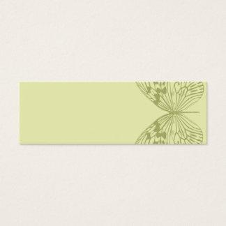 Borboleta & listra verdes cartão de visitas mini