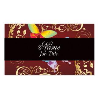 Borboleta lunática cartão de visita