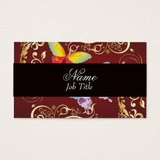 Borboleta lunática cartão de visitas