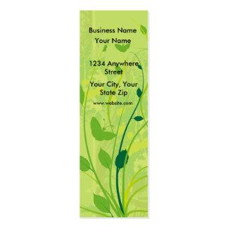 Borboleta magro do verde do cartão de visita