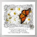 Borboleta & margaridas de monarca pôsteres