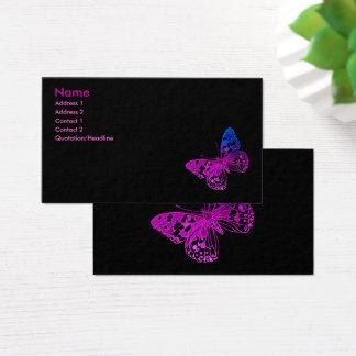 Borboleta minúscula cartão de visitas