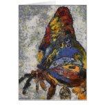 Borboleta Monet de Frida Kahlo inspirado Cartão Comemorativo