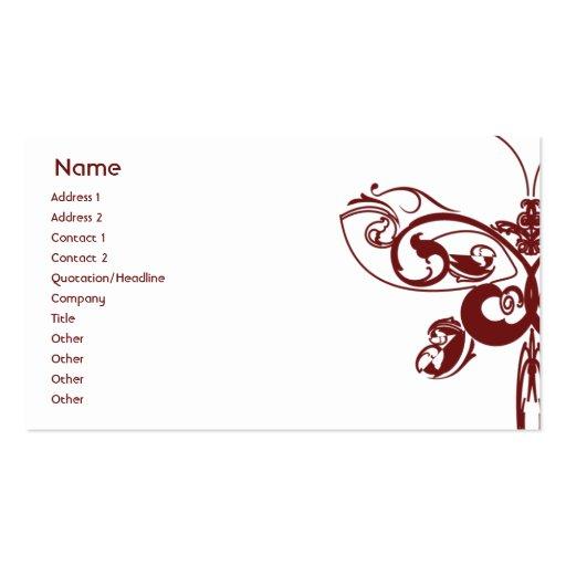 Borboleta - negócio cartão de visita