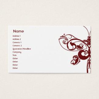 Borboleta - negócio cartão de visitas