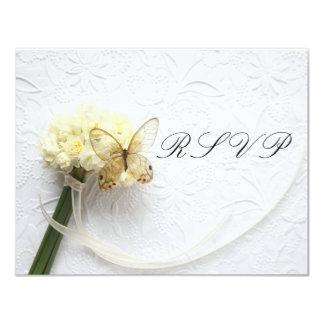 borboleta no buquê da flor que wedding RSVP Convites Personalizados