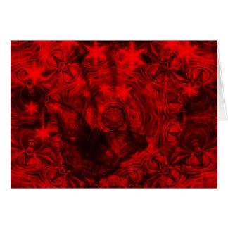 Borboleta no cartão horizontal preto e vermelho