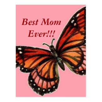 Borboleta no dia das mães feliz cor-de-rosa!!! cartão postal