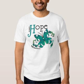 Borboleta PKD do vitral T-shirts
