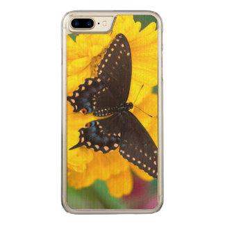 Borboleta preta de Swallowtail Capa iPhone 8 Plus/ 7 Plus Carved