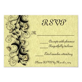 Borboleta que Wedding o cartão de RSVP Convite 8.89 X 12.7cm