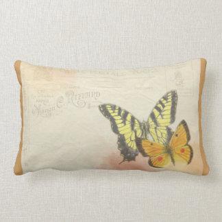 Borboleta reversível do vintage & travesseiro almofada lombar